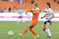 Houston, TX - Thursday Aug. 18, 2016: Ellie Brush, Cali Farquharson during a regular season National Women's Soccer League (NWSL) match between the Houston Dash and the Washington Spirit at BBVA Compass Stadium.