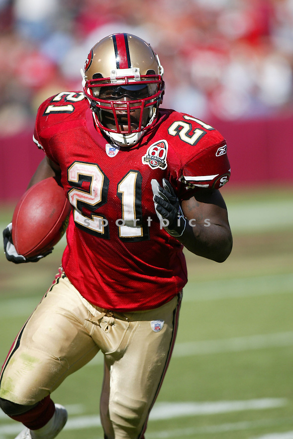 FRANK GORE, of the San Francisco 49er's , during their game against the St. Louis Rams on September 17, 2006 in San Francisco, CA...49er's win 20-13..Rob Holt / SportPics.