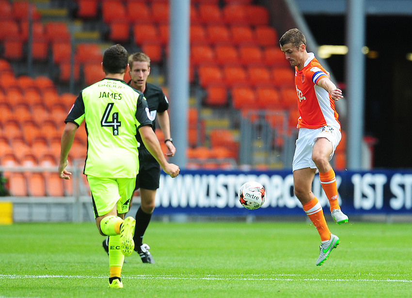 Blackpool's Danny Pugh<br /> <br /> Photographer Kevin Barnes/CameraSport<br /> <br /> Football - The EFL Sky Bet League Two - Blackpool v Exeter City - Saturday 6th August 2016 - Bloomfield Road - Blackpool<br /> <br /> World Copyright © 2016 CameraSport. All rights reserved. 43 Linden Ave. Countesthorpe. Leicester. England. LE8 5PG - Tel: +44 (0) 116 277 4147 - admin@camerasport.com - www.camerasport.com