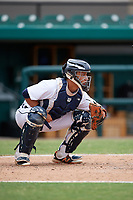 Detroit Tigers Sam McMillan (32) awaits the pitch during an Instructional League game against the Toronto Blue Jays on October 12, 2017 at Joker Marchant Stadium in Lakeland, Florida.  (Mike Janes/Four Seam Images)