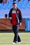 23 JUN 2010:  Herculez Gomez (USA) prior to the match.  The United States National Team played the Algeria National Team at Loftus Versfeld Stadium in Tshwane/Pretoria, South Africa in a 2010 FIFA World Cup Group C match.