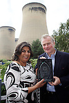 Pix: Shaun Flannery/shaunflanneryphotography.com...COPYRIGHT PICTURE>>SHAUN FLANNERY>01302-570814>>07778315553>>..4th July 2011.................Drax Power Limited..Drax Power Station, Selby, YO8 8PH..Wendy Singh, Chairman and Founder of Selby Hands of Hope presents the Supporter of the Year Award 2011 to Peter Emery, Production Director of Drax Power Station.