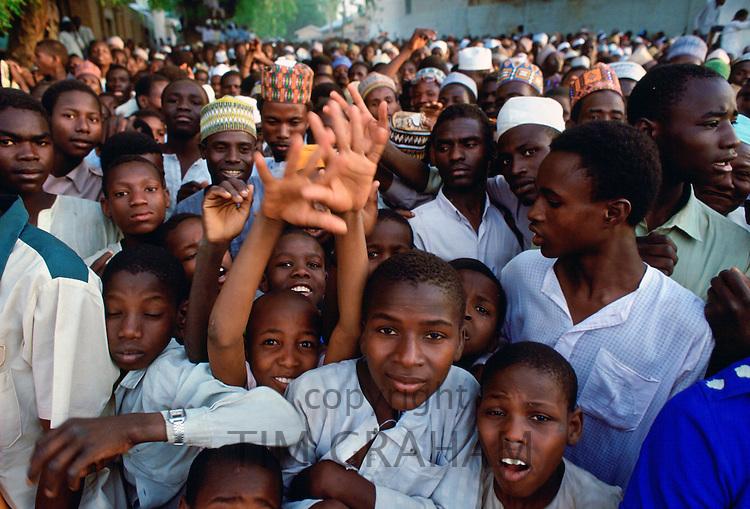Expectant crowds waiting for a Durbar festival in Maiduguri, Nigeria