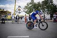 Yves Lampaert (BEL/Deceuninck - Quick-Step) after finishing the TTT<br /> <br /> Stage 2 (TTT): Brussels to Brussels (BEL/28km) <br /> 106th Tour de France 2019 (2.UWT)<br /> <br /> ©kramon
