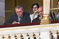 UNGARN, 10.05.2018, Budapest V. Bezirk. Eroeffnungssitzung des neuen Parlaments (4. Kabinett Orb&aacute;n). Unter den VIP-Gaesten Oligarch Istv&aacute;n Garancsi. | Opening session of the new parliament (4th Orban cabinet). Among the VIP guests oligarch Istvan Garancsi.<br /> &copy; Szilard Voros/estost.net