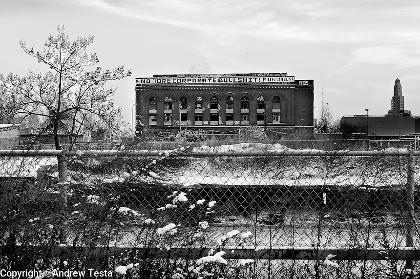 USA. Manhattan. 20th January 2009.Derelict building, Brooklyn..©Andrew Testa
