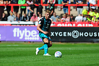 Jake Bidwell of Swansea City in action during the pre season friendly match between Exeter City and Swansea City at St James Park in Exeter, England, UK. Saturday, 20 July 2019