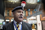 © Joel Goodman - 07973 332324 . No syndication permitted . 29/09/2013 . Manchester , UK . Colonel Ian Brazier , Chairman of the Fusiliers ' Association chairman , speaks out after heckling Philip Hammond from the audience . Day 1 of the Conservative Party Conference at Manchester Central . Photo credit : Joel Goodman