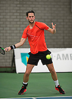 Rotterdam, Netherlands, Januari 24, 2016,  ABNAMROWTT Supermatch, Jesse Timmermans (NED)<br /> Photo: Tennisimages/Henk Koster