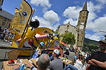 Publicity caravan Bic during Stage 13 of the 104th edition of the Tour de France 2017, running 101km from Saint-Girons to Foix, France. 14th July 2017.<br /> Picture: ASO/Bruno Bade | Cyclefile<br /> <br /> <br /> All photos usage must carry mandatory copyright credit (&copy; Cyclefile | ASO/Bruno Bade)