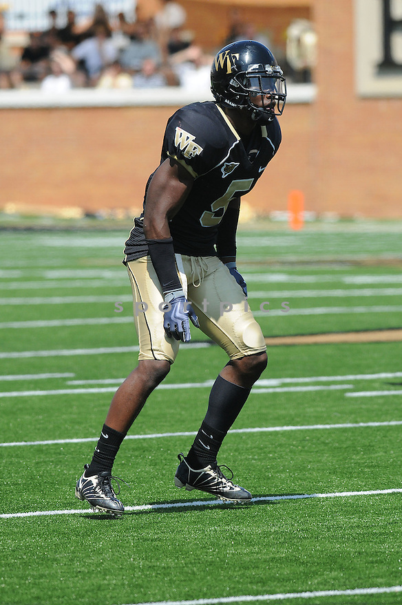 CYHL QUARLES, of the Wake Forest Demon Deacons, in action during the Demon Deacons game against Stanford Cardinal the Winston-Salem, NC.  Wake Forest beats Stanford 24-17.