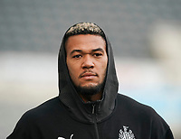 1st January 2020; St James Park, Newcastle, Tyne and Wear, England; English Premier League Football, Newcastle United versus Leicester City; Joelinton of Newcastle United arrives at  St James Park - Strictly Editorial Use Only. No use with unauthorized audio, video, data, fixture lists, club/league logos or 'live' services. Online in-match use limited to 120 images, no video emulation. No use in betting, games or single club/league/player publications