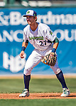 5 September 2016: Vermont Lake Monster infielder Eli White in action against the Lowell Spinners at Centennial Field in Burlington, Vermont. The Lake Monsters defeated the Spinners 9-5 to close out their 2016 NY Penn League season. Mandatory Credit: Ed Wolfstein Photo *** RAW (NEF) Image File Available ***