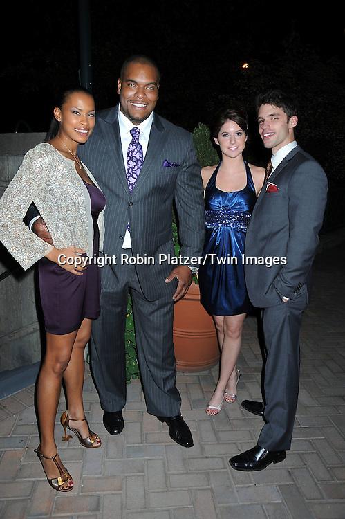 Kearran Giovanni, Sean Ringgold, Brittany Underwood and David Gregory attending ABC Casino Night on October 28, 2010 at Guastavinos in New York City. .