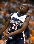 KNOXVILLE, TN--07 JANUARY 2005- 010706JS12-<br /> UConn's Barbara Turner reacts as she fouls out of their game against Tennessee Saturday at the Thompson-Boling Arena in Knoxville, Tennessee. <br />  --Jim Shannon Republican American--UConn; Tennessee; Thompson-Boling Arena; Knoxville; Tennessee,  Barbara Turner are CQ