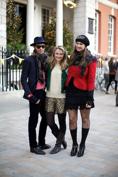 Mark-Francis Vandelli, Amber Atherton and Gabilicious from Made in Chelsea at The Tweed Run, London