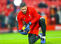 Liverpool's Alisson Becker<br /> <br /> Photographer AlexDodd/CameraSport<br /> <br /> The Premier League - Liverpool v Manchester United - Sunday 16th December 2018 - Anfield - Liverpool<br /> <br /> World Copyright &copy; 2018 CameraSport. All rights reserved. 43 Linden Ave. Countesthorpe. Leicester. England. LE8 5PG - Tel: +44 (0) 116 277 4147 - admin@camerasport.com - www.camerasport.com