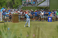 Rod Pampling (AUS) watches his tee shot on 1 during round 1 of the AT&T Byron Nelson, Trinity Forest Golf Club, at Dallas, Texas, USA. 5/17/2018.<br /> Picture: Golffile | Ken Murray<br /> <br /> <br /> All photo usage must carry mandatory copyright credit (© Golffile | Ken Murray)