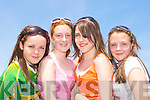 Siobhain Clifford, Katie Teahan, Erin Carr and Emma Joy soaking up the sunshine at the Cromane GAA funday on Sunday