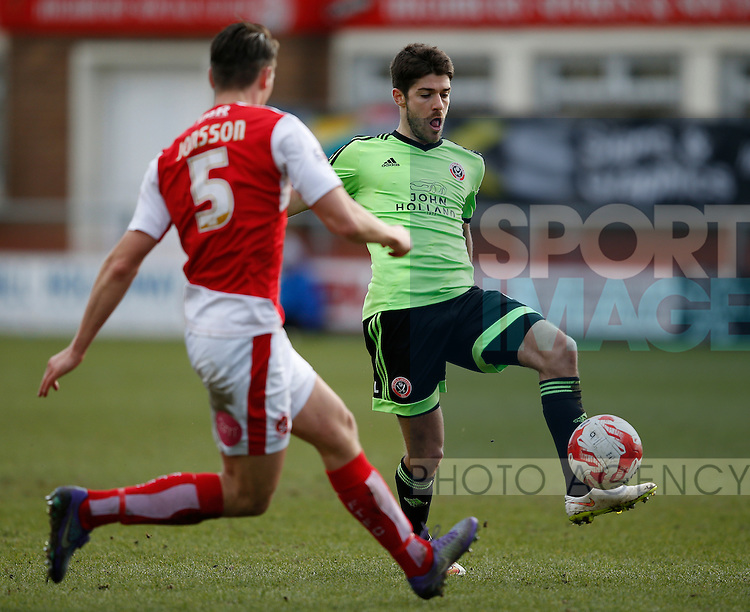 Ryan Flynn of Sheffield Utd in action - English League One - Fleetwood Town vs Sheffield Utd - Highbury Stadium - Fleetwood - England - 5rd March 2016 - Picture Simon Bellis/Sportimage