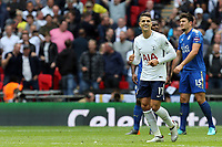 Erik Lamela of Tottenham Hotspur celebrates scoring the fourth goal  during Tottenham Hotspur vs Leicester City, Premier League Football at Wembley Stadium on 13th May 2018