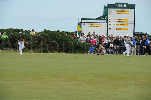 18/07/2010  Paul Casey (ENG) and Louis Oosthuizen in action on the final day of the Open (also known as the British Open) on the Old Course at St Andrews, Fife, Scotland