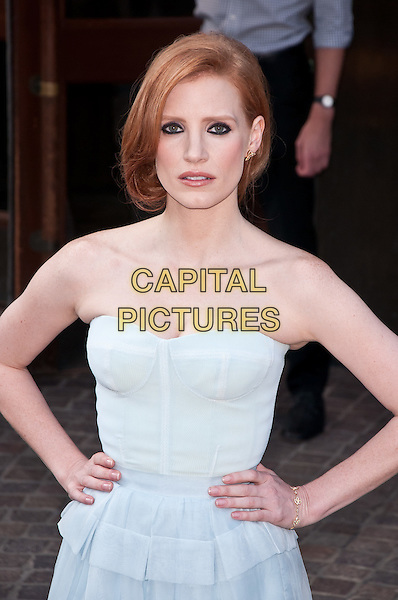 "Jessica Chastain.""The Debt"" Special Screening, New York City, NY, USA..August 22nd, 2011.half length white strapless dress  .CAP/ADM/CS.©Christopher Smith/AdMedia/Capital Pictures."