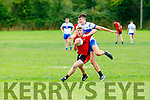 Kevin O'sullivan Kenmare breaks away from Adam O'donoghue Desmonds during their County league clash in Castleisland on Sunday