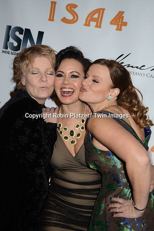 Ellen Dolan, Lauren B Martin  and Yvonne Perry attends the  4th Annual Indie Soap Awards  on Tuesday, February 19th at The New World Stages in New York City. .