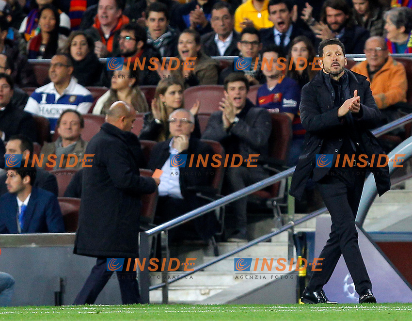 diego simeone (atletico)<br />  <br /> Barcellona 05-04-2016 <br /> Football Calcio 2015/2016 Champions League <br /> Barcellona - Atletico Madrid Quarti di finale<br /> Foto Panoramic / Insidefoto <br /> ITALY ONLY