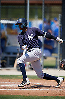 New York Yankees Edel Lauces (33) during a Minor League Spring Training game against the Toronto Blue Jays on March 18, 2018 at Englebert Complex in Dunedin, Florida.  (Mike Janes/Four Seam Images)