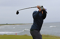 Joakim Lagergren (SWE) on the 3rd tee during Round 2 of the Alfred Dunhill Links Championship 2019 at Kingbarns Golf CLub, Fife, Scotland. 27/09/2019.<br /> Picture Thos Caffrey / Golffile.ie<br /> <br /> All photo usage must carry mandatory copyright credit (© Golffile | Thos Caffrey)