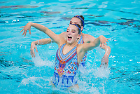 Picture by Allan McKenzie/SWpix.com - 25/11/2017 - Swimming - Swim England Synchronised Swimming National Age Group Championships 2017 - GL1 Leisure Centre, Gloucester, England - Tilly Budd & Prudence Hubbard.