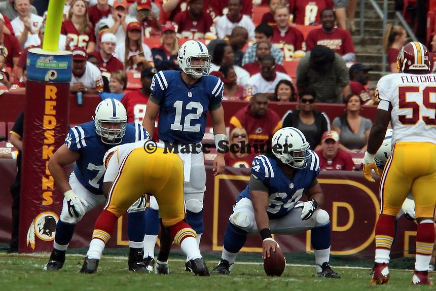 QB Andrew Luck (Colts) mit C Samson Satele