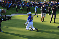 Bronte Law (EUR) the moment Team Europe won the Solheim Cup 2019, Gleneagles Golf CLub, Auchterarder, Perthshire, Scotland. 15/09/2019.<br />