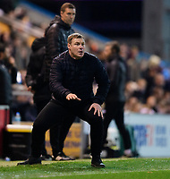 Mansfield Town manager David Flitcroft shouts instructions to his team from the technical area<br /> <br /> Photographer Chris Vaughan/CameraSport<br /> <br /> The EFL Sky Bet League Two - Mansfield Town v Lincoln City - Monday 18th March 2019 - Field Mill - Mansfield<br /> <br /> World Copyright © 2019 CameraSport. All rights reserved. 43 Linden Ave. Countesthorpe. Leicester. England. LE8 5PG - Tel: +44 (0) 116 277 4147 - admin@camerasport.com - www.camerasport.com