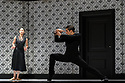 """Edinburgh, UK. 21.08.2017. Nederlands Dans Theater present a triple bill, comprising """"Shoot the Moon"""", """"the missing door"""" and """"Stop-Motion"""", at the Edinburgh Playhouse, as part of the Edinburgh International Festival. The piece shown is: """"Shoot The Moon"""", choreographed and designed by Sol Leon and Paul Lightfoot, with lighting design by Tom Bevoort. The dancers are: Olivier Coeffard, Meng-Ke Wu, Jorge Nozal, Chloe Albaret, Roger Van der Poel. Photograph © Jane Hobson."""