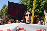 Roma, 13 Maggio 2017<br /> Corteo a Centocelle per Francesca, Angelica e Elisabeth, le tre sorelle Rom uccise nel rogo del camper dove vivevano