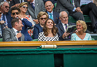London, England, 3 th July, 2017, Tennis,  Wimbledon, The Dutchess of Cambridge Kate Middleton (M)<br />