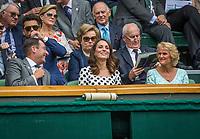 London, England, 3 th July, 2017, Tennis,  Wimbledon, The Dutchess of Cambridge Kate Middleton (M)<br /> Photo: Henk Koster/tennisimages.com