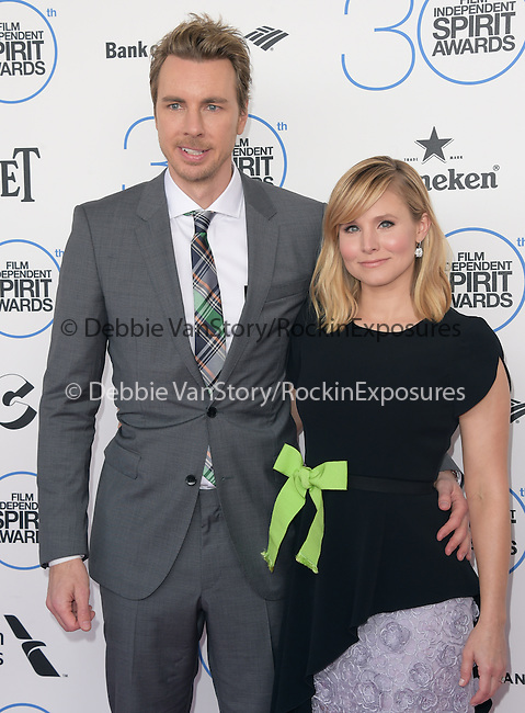 Dax Shepard and Kristen Bell<br />  attends 2015 Film Independent Spirit Awards held at Santa Monica Beach in Santa Monica, California on February 21,2015                                                                               © 2015Hollywood Press Agency