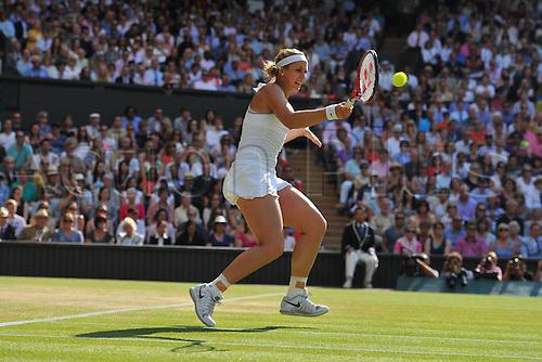 04.07.2013. Wimbledon, London, England.  Wimbledon 2013 Day 10, ladies semi-finals. Sabine Lisicki (Ger) versus Agnieszka Radwanska (POL)  Sabine Lisicki ger