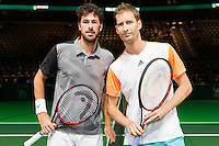 ABN AMRO World Tennis Tournament, Rotterdam, The Netherlands, 13 februari, 2017, Robin Haase (NED), Florian Mayer (GER)<br /> Photo: Henk Koster