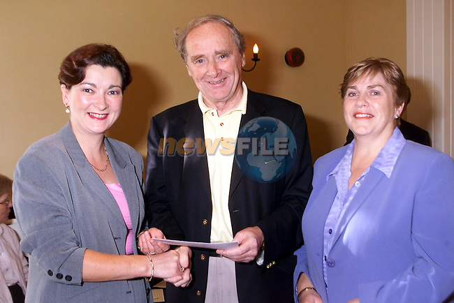 Breda Lawlor, Joe Moran CBAI and Deirdre Russell..Picture Paul Mohan Newsfile..Camera:   DCS620C.Serial #: K620C-00788.Width:    1728.Height:   1152.Date:  8/10/00.Time:   0:14:37.DCS6XX Image.FW Ver:   3.0.9.TIFF Image.Look:   Product.Sharpening Requested: No.Tagged.Counter:    [21425].Shutter:  1/60.Aperture:  f5.6.ISO Speed:  400.Max Aperture:  f3.5.Min Aperture:  f22.Focal Length:  24.Exposure Mode:  Manual (M).Meter Mode:  Color Matrix.Drive Mode:  Continuous High (CH).Focus Mode:  Single (AF-S).Focus Point:  Center.Flash Mode:  Normal Sync.Compensation:  +0.0.Flash Compensation:  +0.0.Self Timer Time:  10s.White balance: Preset (Flash).Time: 00:14:37.126.