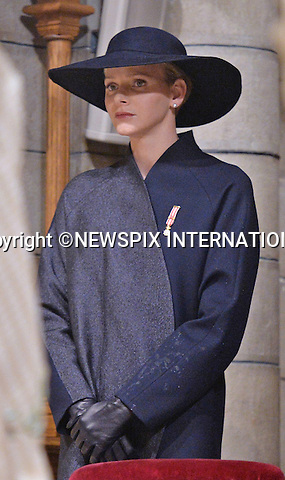 PRINCESS CHARLENE <br /> together with other members of the Monaco Royal Family attended a mass at the Cathedrale, on the occasion of the National Day, Monte Carlo, Monaco_19/11/2013<br /> Mandatory Credit Photos: &copy;NEWSPIX INTERNATIONAL<br /> <br /> **ALL FEES PAYABLE TO: &quot;NEWSPIX INTERNATIONAL&quot;**<br /> <br /> PHOTO CREDIT MANDATORY!!: NEWSPIX INTERNATIONAL(Failure to credit will incur a surcharge of 100% of reproduction fees)<br /> <br /> IMMEDIATE CONFIRMATION OF USAGE REQUIRED:<br /> Newspix International, 31 Chinnery Hill, Bishop's Stortford, ENGLAND CM23 3PS<br /> Tel:+441279 324672  ; Fax: +441279656877<br /> Mobile:  0777568 1153<br /> e-mail: info@newspixinternational.co.uk