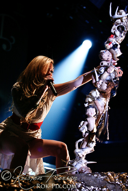 In This Moment In This Moment performing at Mohegan Sun on January 28, 2011