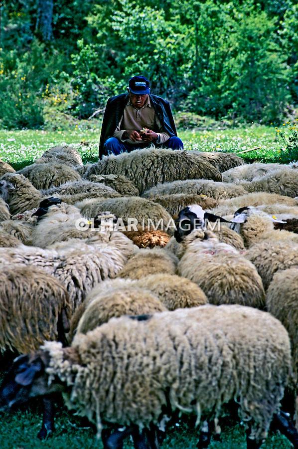 Pastor de ovelhas, Umbria. Itália 2002. Foto de Vinicius Romanini.