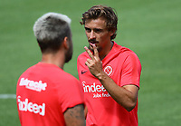 Chico Geraldes (Eintracht Frankfurt) mit Marco Russ (Eintracht Frankfurt) - 08.08.2018: Eintracht Frankfurt Training, Commerzbank Arena<br /> <br /> DISCLAIMER: <br /> DFL regulations prohibit any use of photographs as image sequences and/or quasi-video.
