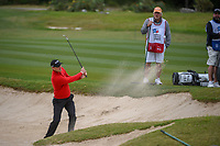 Martin Kaymer (GER) hits from the trap on 14 during Round 2 of the Valero Texas Open, AT&T Oaks Course, TPC San Antonio, San Antonio, Texas, USA. 4/20/2018.<br /> Picture: Golffile | Ken Murray<br /> <br /> <br /> All photo usage must carry mandatory copyright credit (© Golffile | Ken Murray)