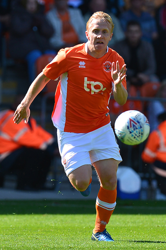 Blackpool's Mark Cullen in action<br /> <br /> Photographer Richard Martin-Roberts/CameraSport<br /> <br /> The EFL Sky Bet League One - Blackpool v Milton Keynes Dons - Saturday August 12th 2017 - Bloomfield Road - Blackpool<br /> <br /> World Copyright &copy; 2017 CameraSport. All rights reserved. 43 Linden Ave. Countesthorpe. Leicester. England. LE8 5PG - Tel: +44 (0) 116 277 4147 - admin@camerasport.com - www.camerasport.com